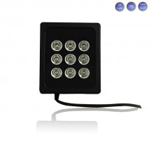 9 LEDs WIDE ANGLE IR ILLUMINATOR FOR NIGHT VISION